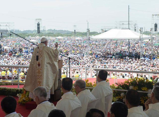 Le pape François à Quito, en Equateur