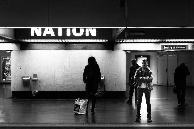 Station Nation dur la ligne du RER A