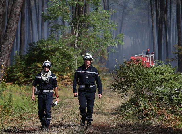 Incendie en forêt à Saint Jean d'Illac.