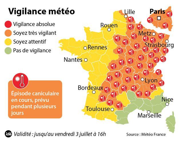 51 départements en vigilance orange