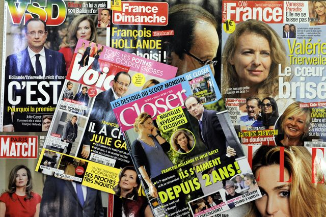 Hollande, cible de la presse people
