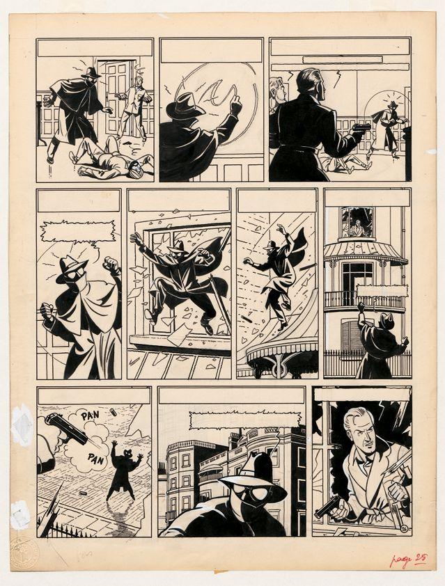 La marque jaune, planche n°26, Journal Tintin, n°12-22 (1950-1952), Le Lombard, 1955,