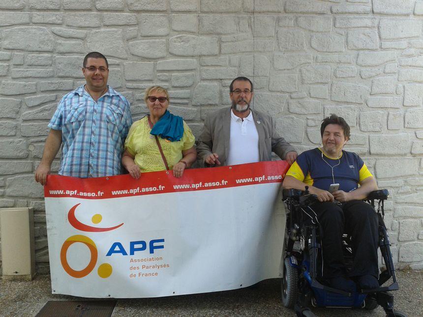 Erik Liger, membre de l'APF s'est rendu sur place avec d'autres membres de l'association pour dénoncer la situation