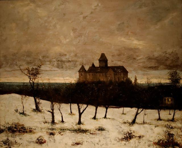 """""""Le Chateau de Blonay"""", l'un des tableaux qui ont servi de cache à """"L'Origine du monde"""""""