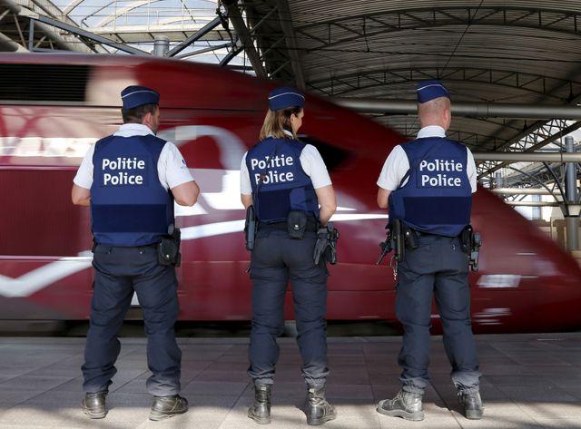 Un Thalys en gare de Bruxelles-Midi