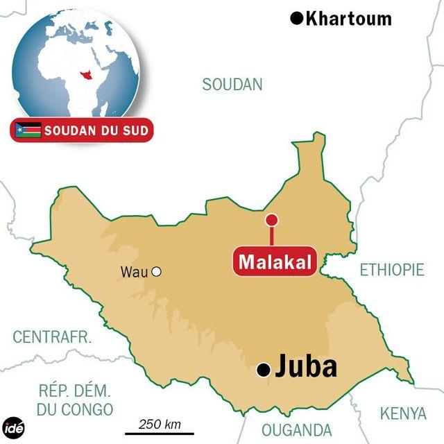 Carte - Soudan du Sud, Malakal