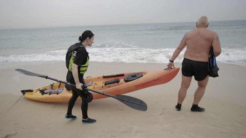 Alain et Maria se sont entraînés en conditions réelles dans les eaux du Détroit de Gibraltar