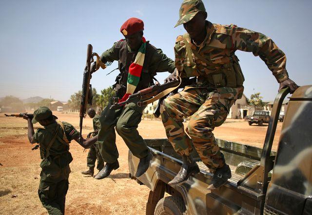 Soudan du Sud : soldats en décembre 2013