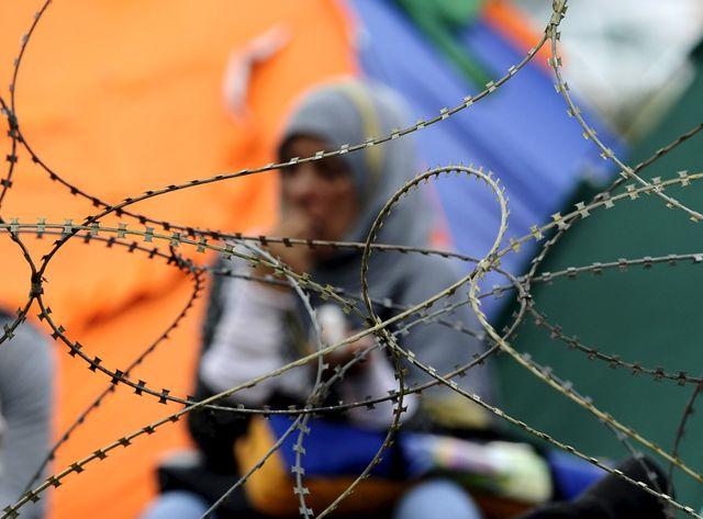 Afflux de réfugiés à la frontière entre la Grèce et la Macédoine