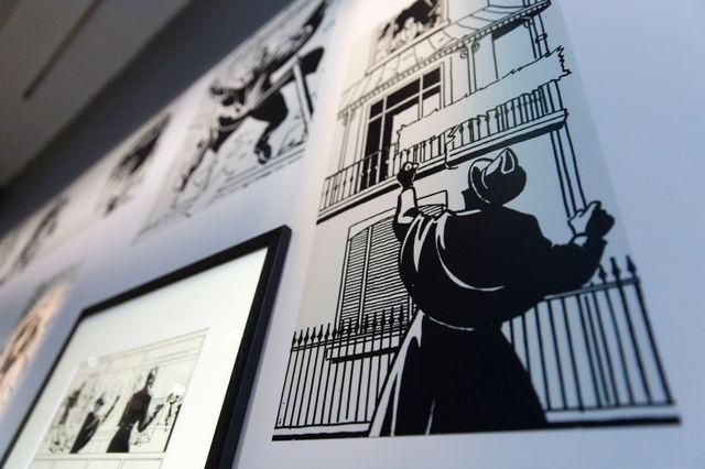 Dans l'exposition L'âge d'or de la BD belge