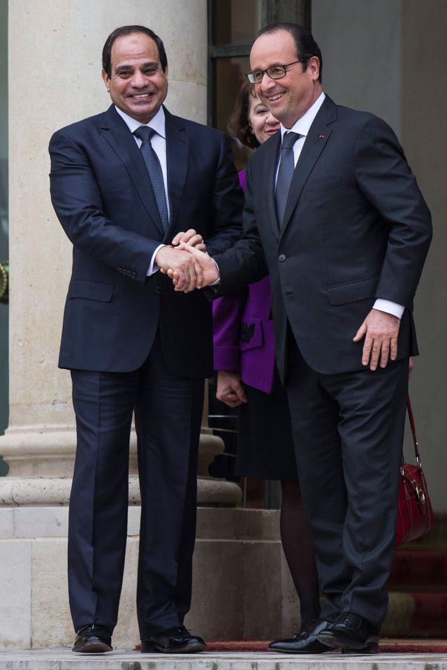 Abdel Fattah al-Sissi et François Hollande à l'Elysee en novembre 2014
