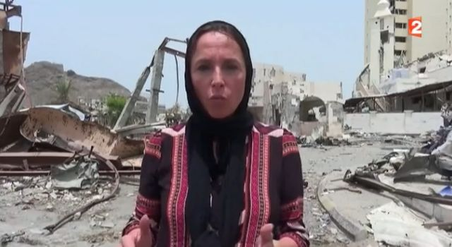 Dorothée Olliéric au Yémen pour France 2 le 7 août dernier