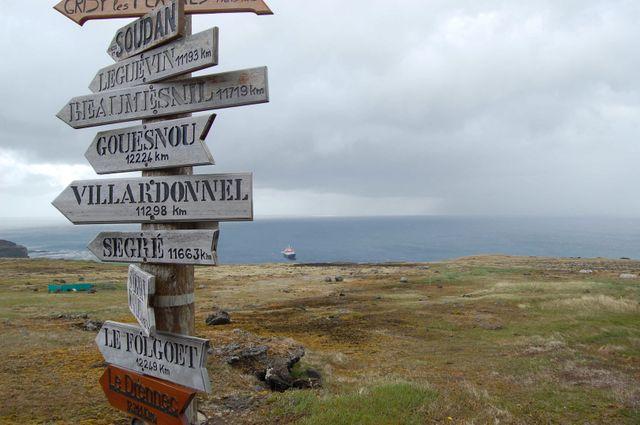 Sur la base scientifique des iles de Kerguelen