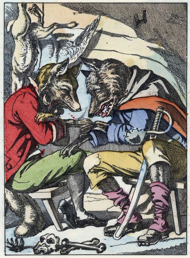 Le Loup et le Renard - Fables de la Fontaine