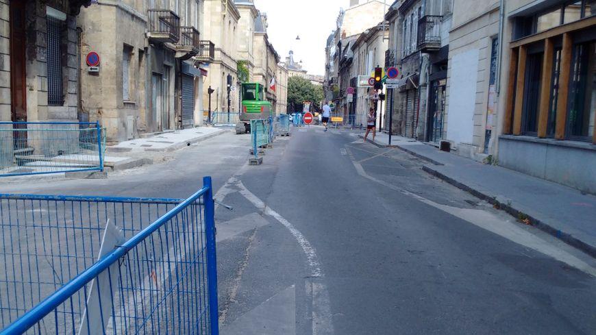 La rue de Cursol fermée à la circulation pour la réflection de la chaussée et des trottoirs