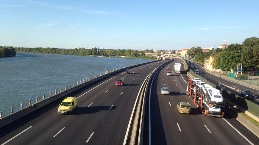Autoroute A7 vitesse à 90