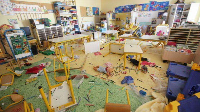 Une classe de l'école Ray-Gorbella de Nice saccagée lundi dernier.