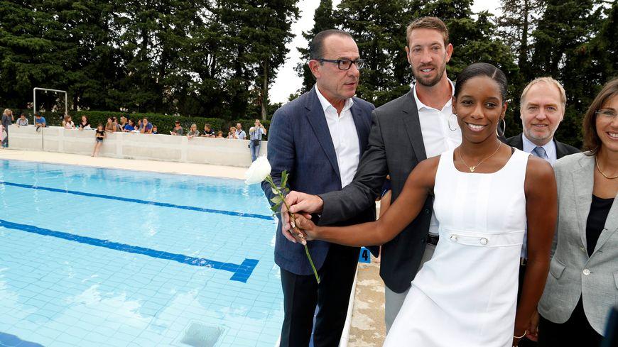 Inauguration de la piscine Camille-Muffat