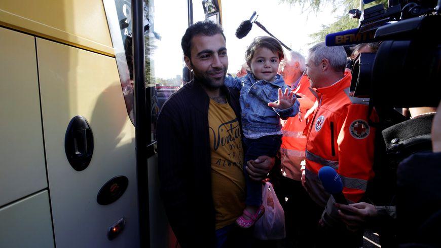 L'arrivée de migrants syriens à Paris cette semaine