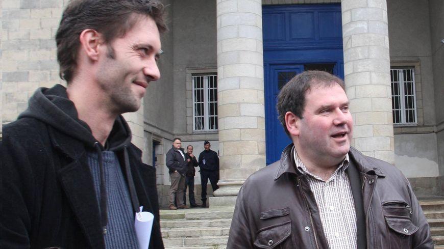 Matthieu Guillemot (à gauche), ici avec Christian Troadec (archive)