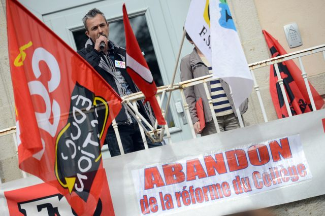 Manifestation au Puy-en-Velay en mai 2015