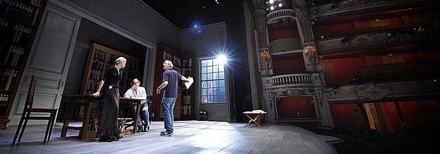 """Arnaud Desplechin-répétition de """"Père"""" à la Comédie Française"""