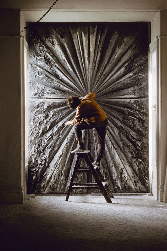 DeFeo working on what was then titled Deathrose, 1960