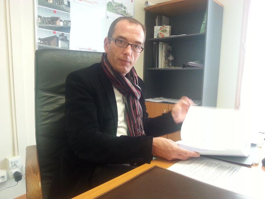 David Chollet, membre du syndicat mixte qui gère le Maine Eco Park
