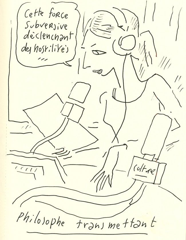 Adèle Van Reeth sous le crayon de Sfar