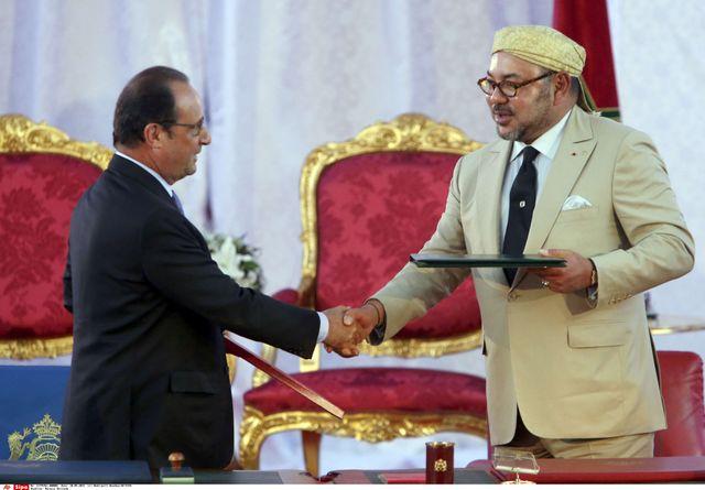François Hollande et Mohammed VI à Tanger le 20 septembre 2015
