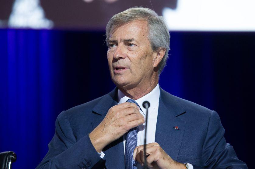 Vincent Bolloré lors de l'assemblée générale de Vivendi