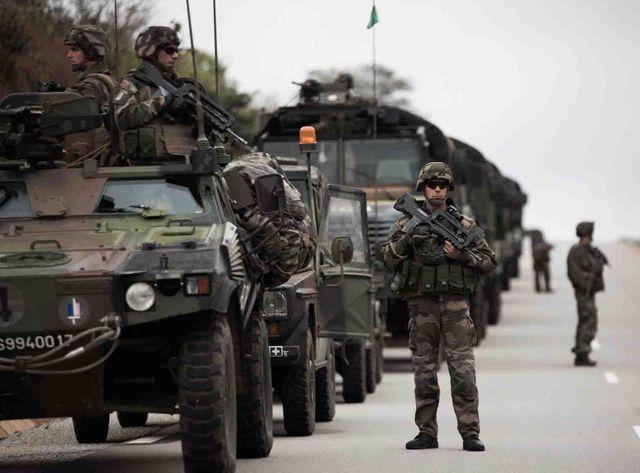Escadron de combat français en Centrafrique près de la ville de Bouar (illustration)