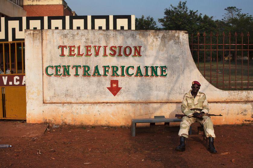 television headquarters in Bangui