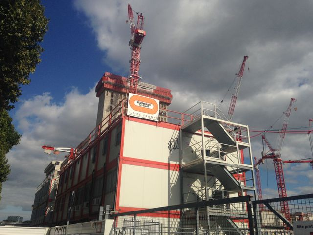 Le chantier du futur palais : un chantier Bouygues