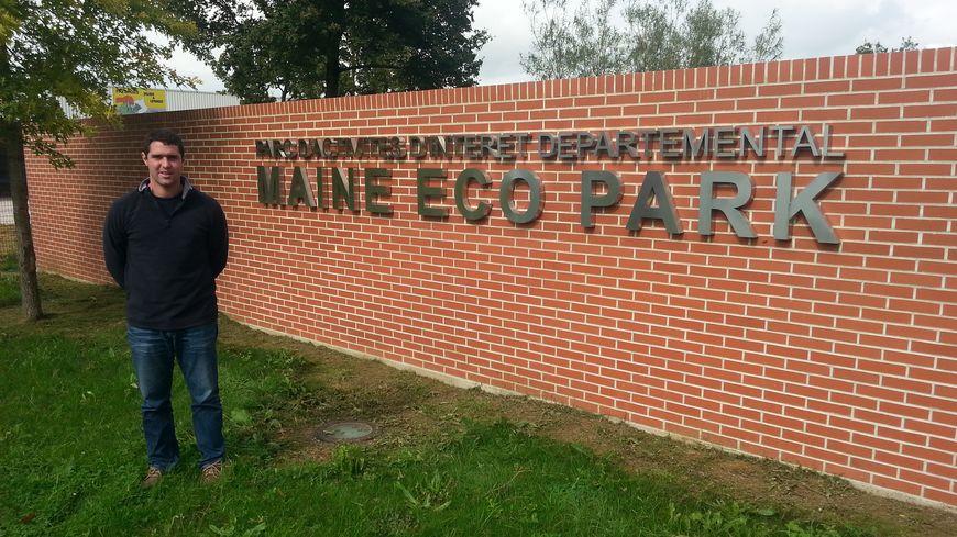 Christophe Julien, le gérant de la seule entreprise implantée dans le parc