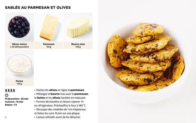 Sablés parmesan et olives