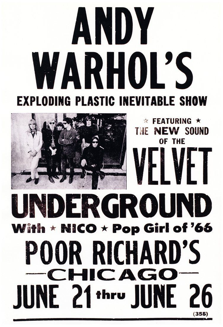 Affiche Andy Warhol's exploding plastic inevitable show
