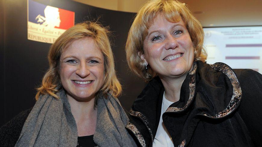 Valérie Debord et Nadine Morano le 23 mars 2014