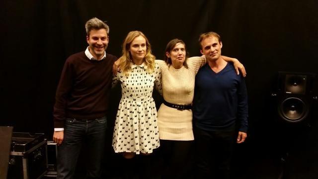 Ping Pong : Martin Quenehen, Diane Kruger, Mathilde Serrell et Fabrice Gobert