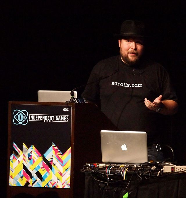 Markus Persson au Game Developpers, en 2011