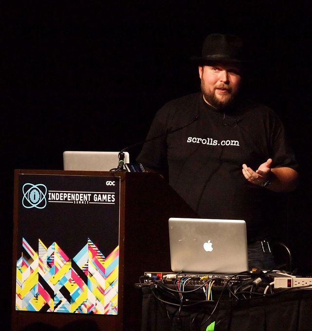 Markus Persson au Game Developpers, en 2011