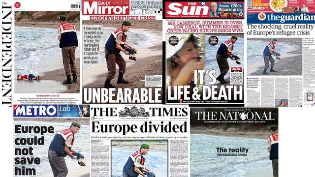 Les quotidiens britanniques du 3 septembre 2015