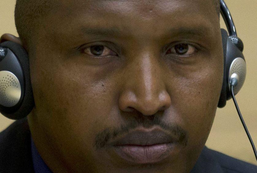 Bosco Ntaganda, le 26 mars 2013 à La Haye, lors de sa première apparition devant la  Cour internationale de Justice