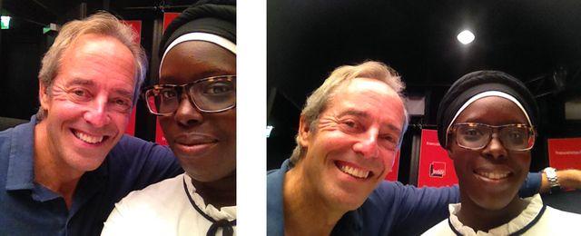 Jean-François Clervoy et Fatoumata Kebe
