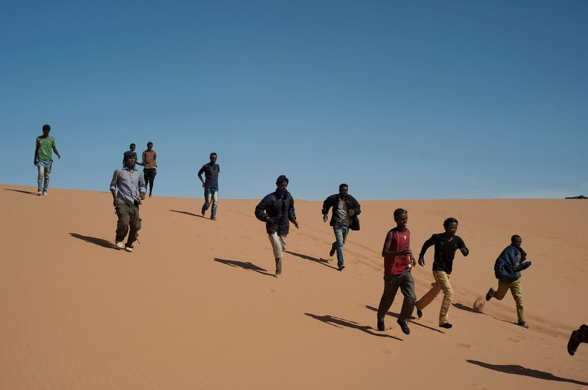 Migrants, désert