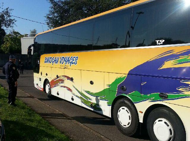 L'arrivée du bus à Champagne-sur-Seine