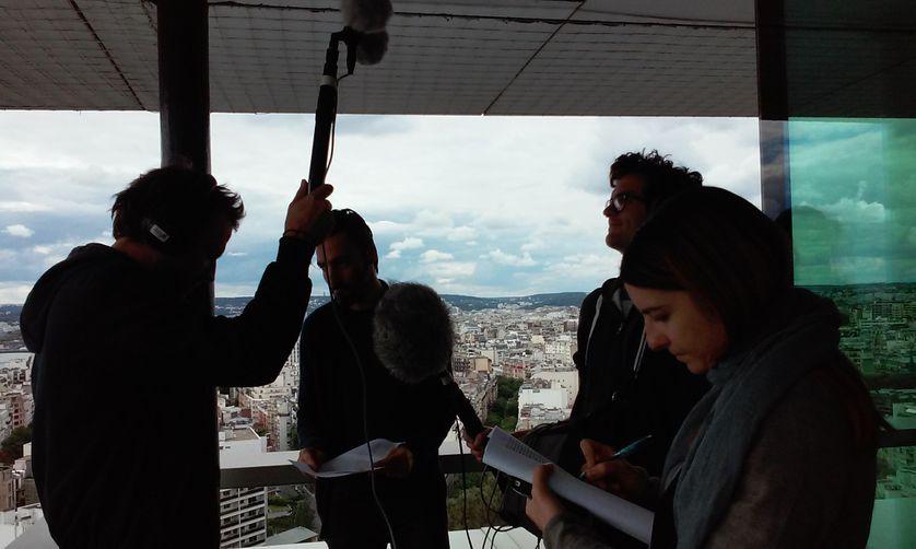 """pendant l'enregistrement de """"Mondes"""" au 22ème étage de la Maison de la radio"""