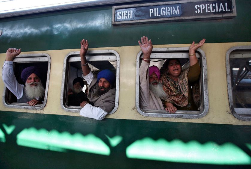 Hundreds of Sikhs from various parts of India are travelling to Pakistan to visit the shrine of Nankana Sahib, the birthplace of