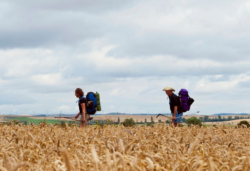 The Way of St. James' pilgrimage in the northern Spanish town of Atapuerca, near Burgos