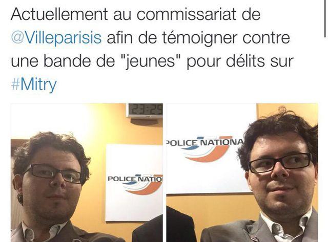Photos publiées sur le compte Twitter d'Adrien Desport